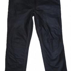 PANTALONI PIELE NATURALA - (MARIME: 38) - Talie = 96 CM, Lungime = 113 CM - Pantaloni barbati, Culoare: Negru