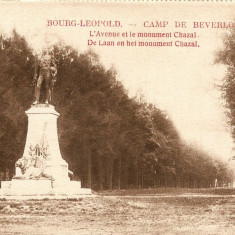 WW1 CAMP DE BEVERLO  BELGIA ALEEA PRINCIPALA MONUMENTUL CHAZAL