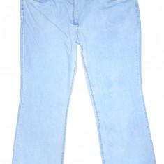 (BATAL) Blugi JOHN BANER - (MARIME: 44) - Talie = 115 CM, Lungime = 112 CM - Blugi dama, Culoare: Bleu, Bootcut, Normala