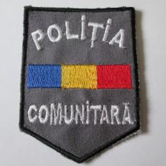 EMBLEMA TEXTILA 9 X 6, 7 CM POLITIA COMUNITARA