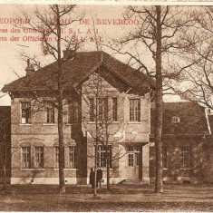 WW1 CAMP DE BEVERLO BELGIA POPOTA OFITERILOR, Necirculata, Printata