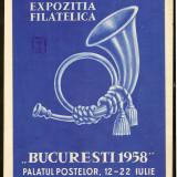 Romania 1958-Afis Expozitia Filatelica Bucuresti 1958,stampile impresia 80 PAR