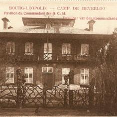 WW1 CAMP DE BEVERLO BELGIA PAVILIONUL COMANDAMENTULUI, Necirculata, Printata