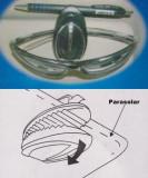 Suport Parasolar Pentru Ochelari Pix Sau Acte
