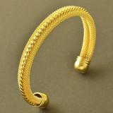 Bratara placata cu aur 18K;  marime reglabila