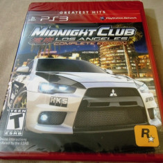 Joc Midnight club LA Complete Edition, PS3, sigilat, alte sute de jocuri! - Jocuri PS3 Rockstar Games, Curse auto-moto, 12+, Multiplayer