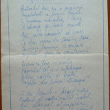 Poezie in manuscris, de Virgil Carianopol, scrisa si semnata olograf, 1 - Autograf