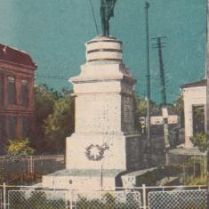 MOLDOVA CERCETASI TECUCI-STATUIA CERCETASULUI GIATA VIRGILIU CIRC. DEC.931 - Carte Postala Moldova dupa 1918, Circulata, Printata