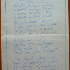 Poezie de Victor Eftimiu, scrisa si semnata olograf, mason, aroman - Autograf