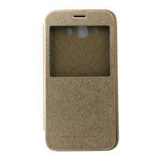 Toc My-Wow Samsung Galaxy A8 A800 Auriu - Husa Telefon Atlas, Piele Ecologica