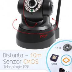 Camera de Supraveghere pe Card IP si Wi-Fi Rotatie 270 grade, Garantie, Factura