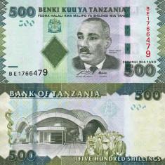 TANZANIA 500 shillings 2010 UNC!!! - bancnota africa