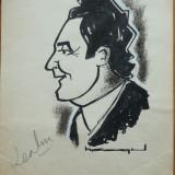 Caricatura interbelica in tus de Neagu Radulescu : Leahu - Pictor roman, Scene gen, Cerneala, Altul