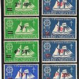 Colonii franceze, Saint Pierre et Miquelon, 1945, supratipar, corabii, MNH, Nestampilat