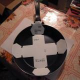 Tigaie din aluminiu teflonat diametrul 24 cm., fara capac, NOUA