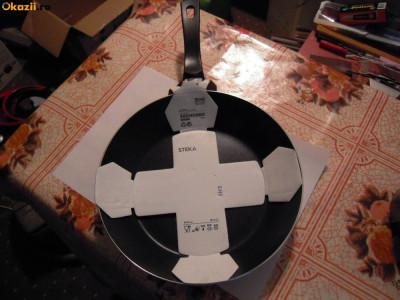 Tigaie Aluminiu teflonat diam. =  24 cm., H= 6 cm, fara capac si mixer Heinner foto