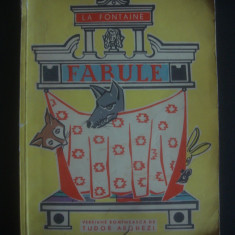 LA FONTAINE - FABULE  {1963, ilustrata color}, Alta editura