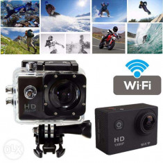 Sport Action Camera tip SJ4000 Wi-Fi Subacvatica FullHD 1080p 12MP 170, Garantie - Camera Video Actiune SJCAM, Card de memorie