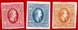 1865 Domnitorul Cuza serie 3v. noi margini excel.  guma originală cu șarnieră