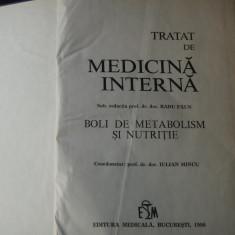 TRATAT DE MEDICINA INTERNA - BOLI DE METABOLISM SI NUTRITIE - RADU PAUN