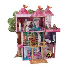 Castel casuta Storybook KidKraft Casa din lemn de joaca pentru papusi si fetite, Roz