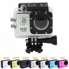 Sport Action Camera tip SJ4000 Subacvatica FullHD 1080p, 5MP, <140°, Garantie - Camera Video Actiune SJCAM, Card de memorie