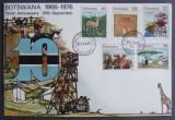 BOTSWANA - ANIMALE, ACTIVITATI, 1 FDC OBLITERAT - AS 131