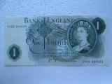 1 Pound 1970 - 1977 Marea Britanie Anglia one pound semnatura Page