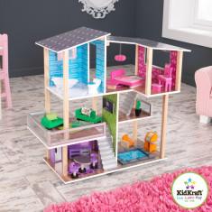 Casuta de papusi din lemn Modern Living Dollhouse Kidkraft casute joaca fetite