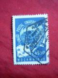 Timbru 4,5 Esc Mozambic Colonie Portugheza , 75 Ani UPU ,stampilat1949, Stampilat