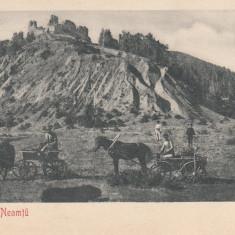 CETATEA NEAMTU, CIRCULATA, STAMPILA 904 - Carte Postala Moldova pana la 1904, Printata