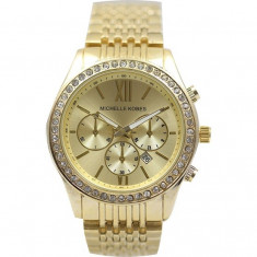 Ceas dama Michelle Kobes - Gold Edition Cadou aniversare, Casual, Mecanic-Manual, Inox, Data
