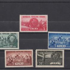 ROMANIA 1950, LP 273, GMA SI FGMA SERIE MNH - Timbre Romania, Nestampilat