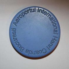 Jeton Albastru Parcare Termen Lung Aeroport Otopeni cu livrare GRATUITA curier