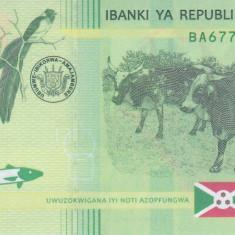 Bancnota Burundi 1.000 Franci 2015 - P51 UNC ( hibrid )
