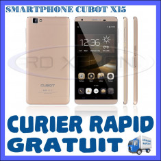 SMARTPHONE DUAL SIM CUBOT X15 - 4G, QUADCORE 1.3 GHZ, 2GB RAM, 16GB INT, 16MP, Auriu, Neblocat, Touchscreen
