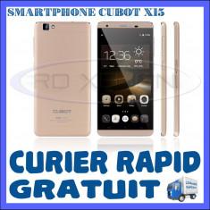SMARTPHONE DUAL SIM CUBOT X15 - 4G, QUADCORE 1.3 GHZ, 2GB RAM, 16GB INT, 16MP - Telefon mobil Dual SIM Cubot, Auriu, Neblocat