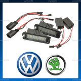 Lampi LED numar inmatriculare VW Passat B6 B7 CC Golf V VI Jetta MK5 - Led auto, Volkswagen