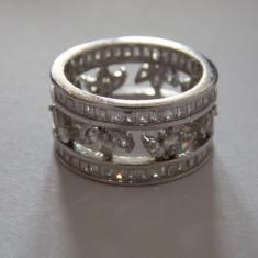 Inel tip verigheta cu zirconii - 635 - Inel argint