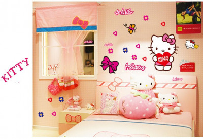 Sticker Autocolant Perete/Masina Hello Kitty camera copilului CALITATE GARANTATA foto