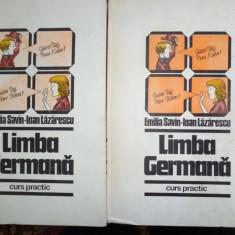 Limba germana 2 vol./an 1985/882pagini/ cartonate- Emilia Savin, Ioan Lazarescu - Curs Limba Germana