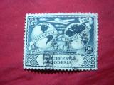 Timbru 2pence 1949 Rhodezia de Sud -75 Ani UPU , stampilat