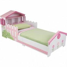 Patut din lemn pentru fetite Kidkraft Dollhouse mobilier dormitor camera copii, 140x70cm, Roz
