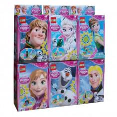 SET 6 FIGURINE DIN DESENUL ANIMAT FROZEN, PIESE DE CONSTRUIT TIP LEGO MARCA JLB. - LEGO Disney Princess