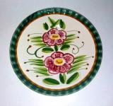 Farfurie ceramica majolica pentru perete - Semnata Claudio Bernini - Italia