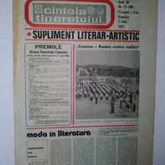 Ziar - supliment literar artistic SCANTEIA TINERETULUI - 5 iunie 1983