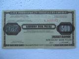 500 Zlotych Cec de calatorie Polonia, cec de calatorii incasat in Romania zloti