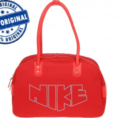 Geanta Nike Heritage - geanta originala - Geanta Dama Nike, Culoare: Rosu, Marime: Masura unica, Geanta sport, Nilon
