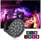 Proiector Scaner Joc Lumini DMX 7 canale Flat Par Light RGB 18 LED
