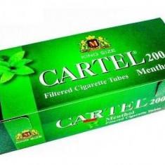 Tuburi tigari CARTEL MENTOL 200 TUBURI CU FILTRU ALB - Foite tigari